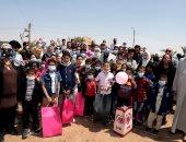 يوم ترفيهى فى حياة 60 طفلا بمنطقة هرم ميدوم ببنى سويف .. صور