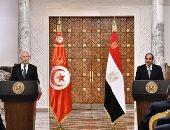 الرئيس السيسى لنظيره التونسى: الأمن المائى المصرى جزء من الأمن القومى العربى