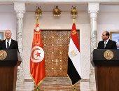 الرئيس السيسى: أجريت مباحثات مكثفة مع الرئيس التونسى حول العلاقات بين البلدين