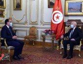الرئيس التونسى يستقبل رئيس الوزراء فى مقر إقامته بقصر القبة.. صور