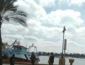 رياح شديدة فى البحيرة وتوقف حركة الصيد بإدكو وغلق بوغاز رشيد..فيديو