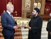 الرئيس التونسى قيس سعيد يزور كاتدرائية ميلاد المسيح بالعاصمة الإدارية.. صور