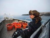 مغامرات الغوص فى الجليد.. رحلة استكشافية تحت الصفر لصيد المحار البري