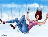 الليرة اللبنانية تواصل الهبوط الحاد فى كاريكاتير كويتى