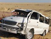 مصرع 3 أشخاص وإصابة 10 آخرين فى انقلاب سيارة ميكروباص بالسويس