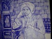 """""""محمد"""" يشارك صحافة المواطن عددا من اللوحات الفنية"""