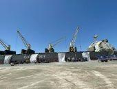 ميناء شرق بورسعيد يستقبل أكبر سفينة صب جاف لشحن 60 ألف طن كلينكر.. صور