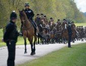 الحرس الملكى البريطانى يجرى بروفة نهائية لجنازة الأمير فيليب.. فيديو وصور
