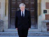 بوريس جونسون يقف دقيقة حداد على الأمير فيليب تزامنا مع تشييع جثمانه
