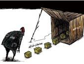 كاريكاتير صحيفة سعودية.. المساعدات الغذائية مصيدة حزب الله للبنان