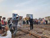 أهالى قرية ميت عساس بالغربية ينتظرون وصول جثمان رئيس قطار بنها لدفنه بالمقابر