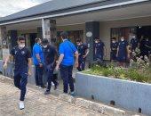 بيراميدز يصل ملعب ليفى موانواسا لمواجهة نكانا بالكونفدرالية.. صور
