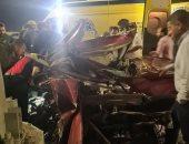 مصرع طفل وإصابة اثنين آخرين فى حادث تصادم ببنى سويف