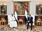 ولى عهد أبو ظبى: الإمارات تدعم الجهود المصرية لوقف إطلاق النار فى قطاع غزة