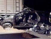 إصابة سائقين فى حادث تصادم سيارتين على الطريق الصحراوى الغربى بسوهاج