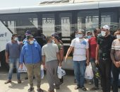 مطار القاهرة الدولى يستقبل 95 صيادا مصريا بعد الإفراج عنهم فى إريتريا