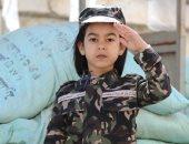 جلسة تصوير لبطلة جمباز بالزى المموه: تأثرت بالاختيار ونفسى أكون ضابط جيش
