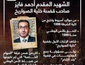 الشهيد المقدم أحمد فايز صاحب قضية خلية الصواريخ بعد ظهوره في الاختيار 2.. إنفوجراف