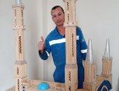 """""""محمد"""" يشارك صحافة المواطن بصور لمجسم مسجد من أعواد الثقاب"""
