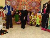 """""""زينب"""" تصمم مجسمات بالحجم الطبيعى لأبطال رمضان زمان.. من شريهان لفطوطة"""