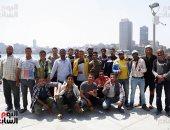عمال مثلث ماسبيرو يسابقون الزمن لإنجاز المشروع.. ألبوم صور