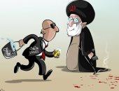 الاتفاق النووى يهدف إلى تلميع الوجه الآخر لإيران فى كاريكاتير سعودى