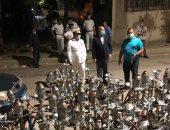 محافظة القاهرة تضبط شقة تم تحويلها لمخزن شيشة فى مدينة نصر.. صور