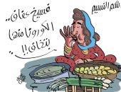 فسيخ عفاف.. تحذير من تناول الرنجة بسبب كورونا كاريكاتير اليوم السابع