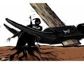 المرتزقة فى ليبيا أشجار بجذور عميقة يجب اقتلاعها بكاريكاتير سعودى