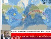 اعرف كم مرة مر الصاروخ الصينى على مصر فى تغطية تليفزيون اليوم السابع