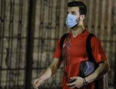 محمود متولى يظهر مع لاعبى الأهلى فى استاد الإسكندرية بعد فترة غياب طويلة