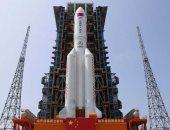 مراحل سقوط الصاروخ الصينى على الأرض (فيديو)