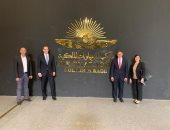 سفراء روسيا واليابان وبلجيكا يزورون المتحف القومى للحضارة بالفسطاط