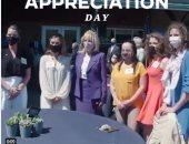 جيل بايدن تشارك فى يوم الزوجة العسكرية لتوجيه الشكر لزوجات الضباط.. فيديو وصور