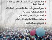 ضوابط صلاة العيد فى المساجد الكبرى.. إنفوجراف