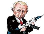 لقاح سبوتنيك سلاح بوتين فى مواجهة وباء كورونا فى كاريكاتير سعودى
