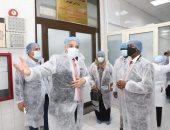 وزير الثروة الحيوانية السودانى يزور معهدى الصحة الحيوانية والأمصال البيطرية