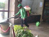 الرى تجرى عملية تطهير وتعقيم لمبنى الوزارة وتشدد على إجراءات النظافة