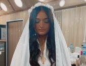 ملك أحمد زاهر بالفستان الأبيض في كواليس مسلسل نسل الأغراب.. فيديو وصور