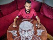 على الطبلية.. مغربى يبدع فى رسم لوحات فنية بالملح.. وطبيب الغلابة ملاك رحمة.. ألبوم صور