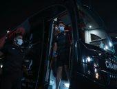 حافلة الأهلى تصل إلى استاد السويس لخوض مباراة الطلائع
