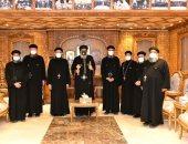 البابا تواضروس يبحث أمور الخدمة بمنطقة خدمة الكنيسة مع كهنة الرحاب