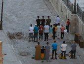 """""""الله أكبر.. الله أكبر"""".. المواطنون يؤدون صلاة عيد الفطر والتزام بارتداء الكمامات (ألبوم صور)"""