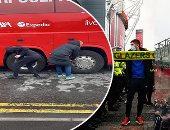 الوضع خرج عن السيطرة من جماهير  مانشستر يونايتد.. محيط أولد ترافورد يشتعل قبل مواجهة ليفربول