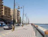 استمتع بجمال كورنيش النيل فى بنى سويف بعد تطويره .. لايف