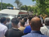 أهالى قرية السيد بالبحيرة يشيعون جثمان عميد شرطة توفى أثناء سجوده بصلاة العشاء