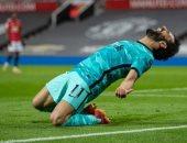 فيفا يبرز احتفال صلاح بعد هدفه فى المباراة 200 مع ليفربول أمام مان يونايتد