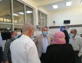 شاهد.. تطعيم المواطنين بلقاح كورونا فى مستشفى المنصورة العام الجديد.. صور