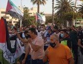 """مئات الأشخاص يتجمعون في مليلية بإسبانيا للتنديد بـ""""مجزرة إسرائيل فى فلسطين"""""""