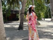 درة ومحمد الشرنوبى يستمتعان بأجواء إجازة العيد فى جزر المالديف .. صور
